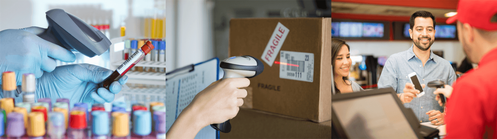 Uses of a 2D barcode scanner